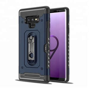 Free sample phone case for samsung galaxy Note 9 shell with Metal Kickstand design