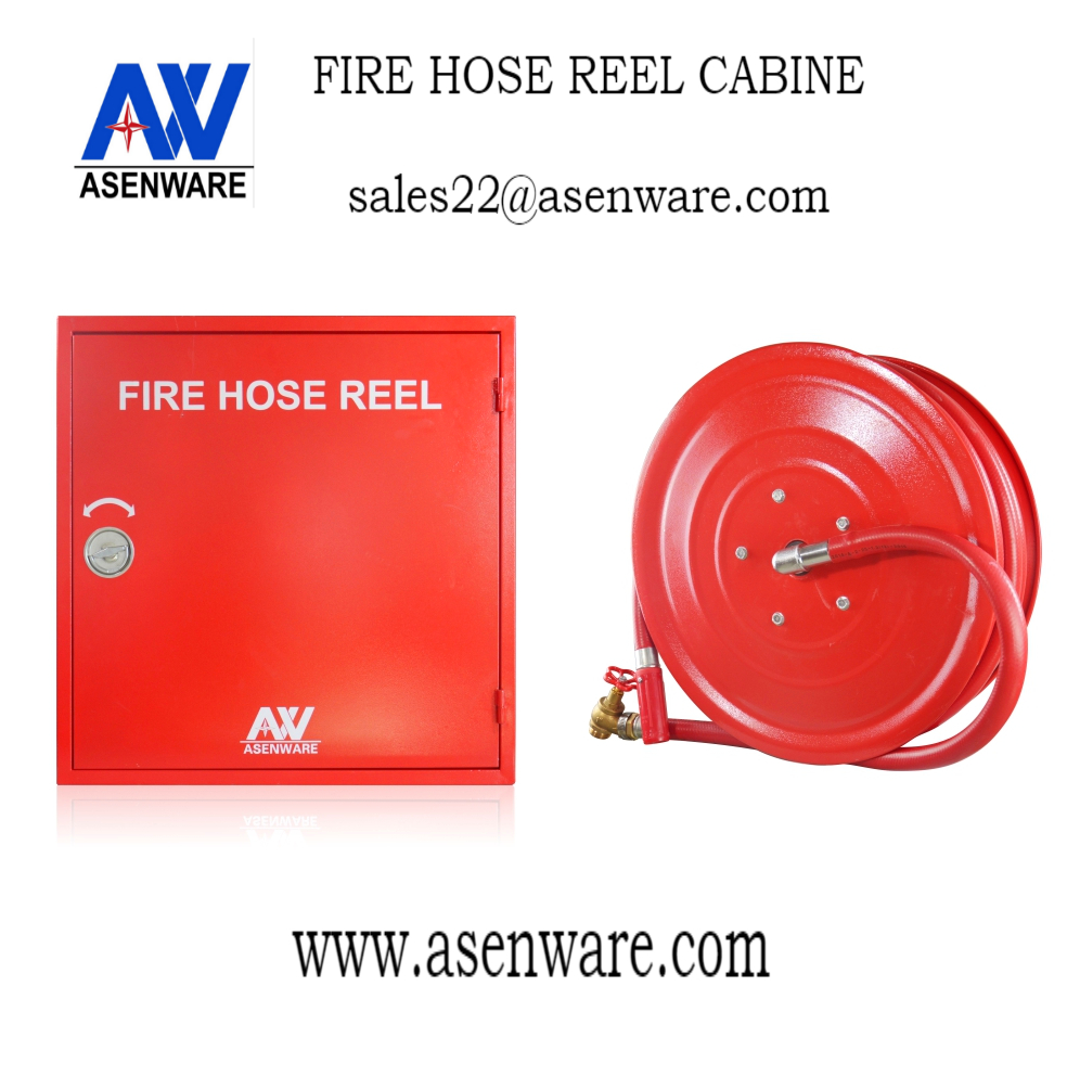 Elegant American Fire Hose and Cabinet