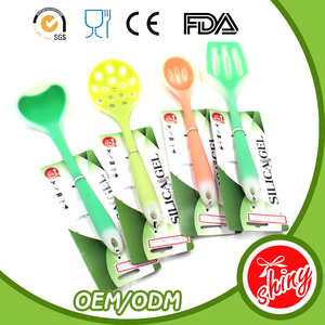 Food grade high quality colorful the names of kitchen utensils sets cooking tools