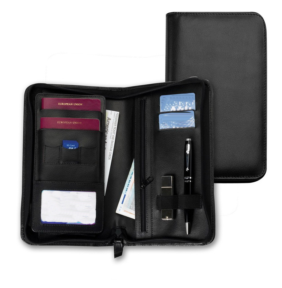 A5 multifunctional organizer leather travel wallet