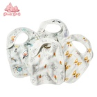 Super soft and absorbent bamboo cotton six layers gauze baby bib