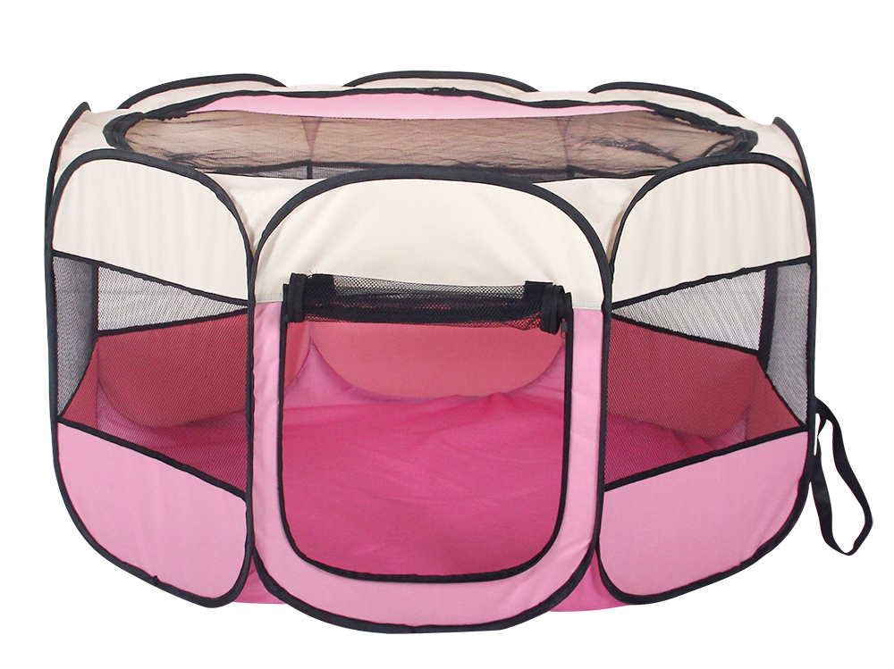 Pet Puppy Dog Playpen Exercise Pen Kennel Tent Foldable ...