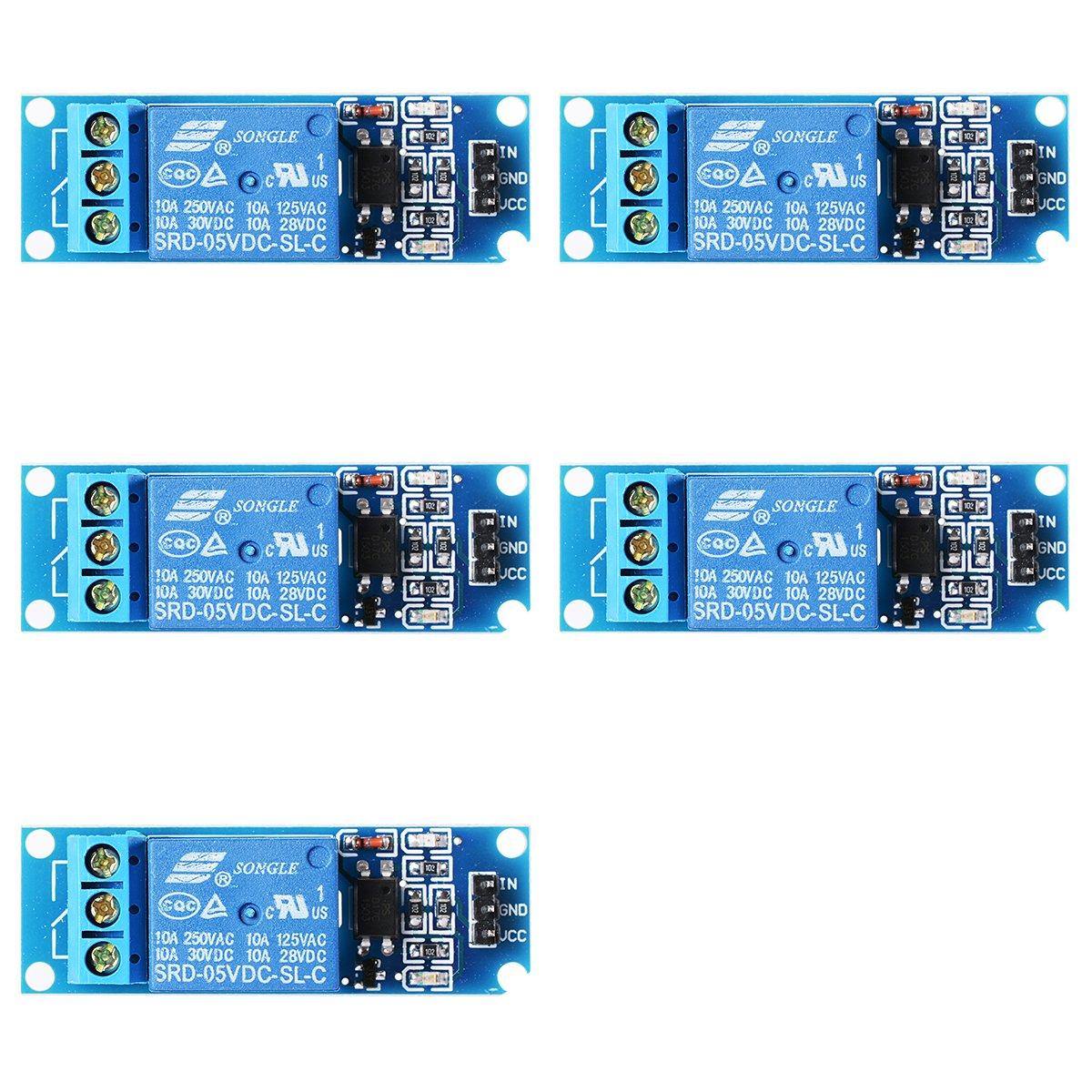 XCSOURCE 5PCS 5V/9V/12V/24V 1 Channel Relay Shield Module Optocoupler For PIC AVR DSP ARM Arduino TE213