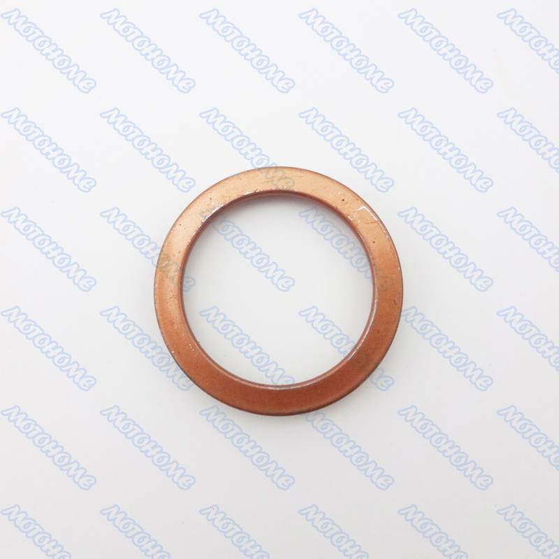 5pcs/lot COPPER EXHAUST MUFFLER PIPE GASKET FOR ATV QUAD SCOOTER MOPED PIT DIRT BIKE MOTORCYCLE