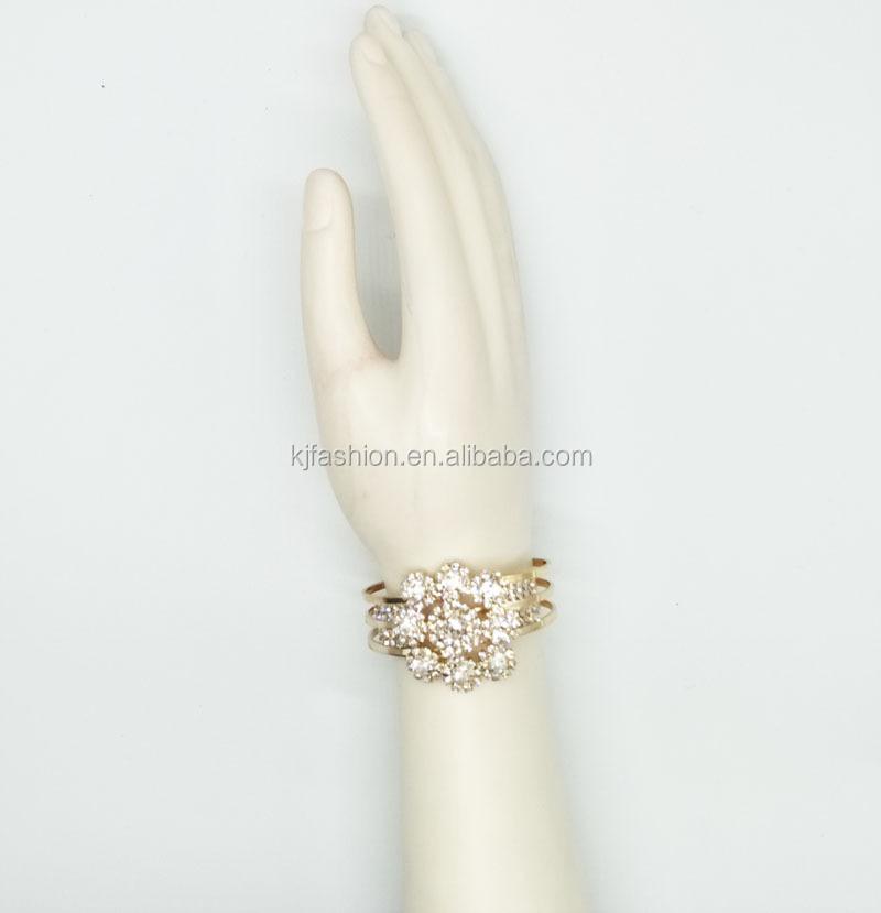 Blume Diamant Mode Frauen Armband Farbe Gold Elegante Schmuck ...