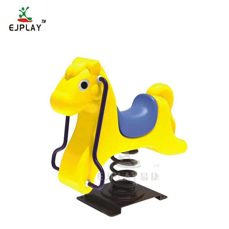 Outdoor Children Ride On Animal Shape Plastic Spring Toy Riders/ Kids Rocking Horse