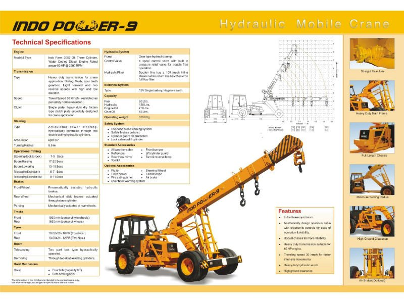 hydra 14 ton load chart
