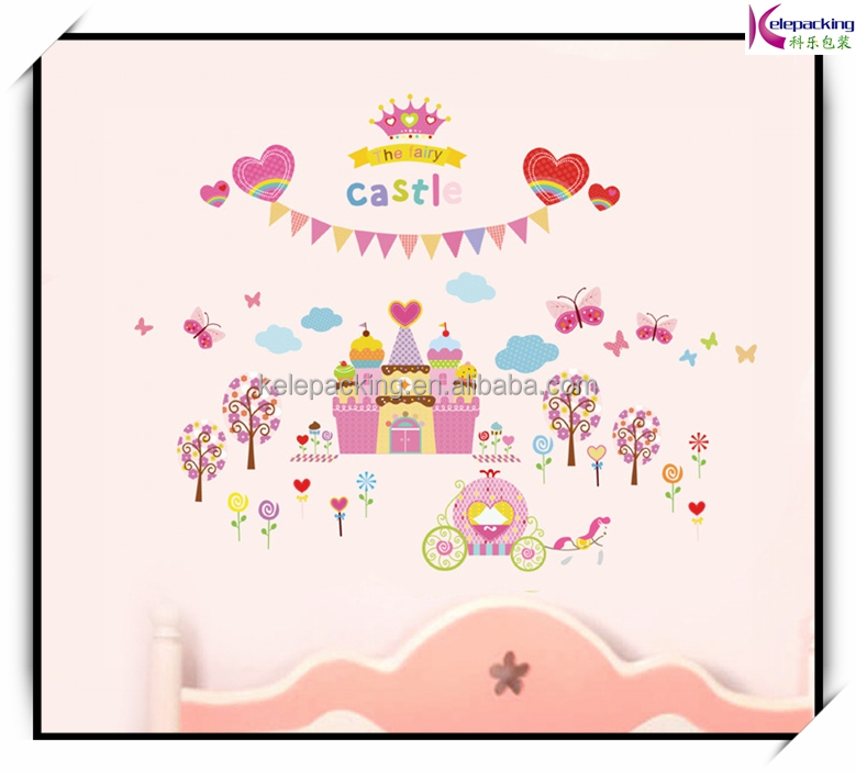 China wholesale baby room wall stickers princess castle new design decorative decals