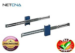 RackSolutions Third Party Rail Kit - rack rail kit - 1U- With Free NETCNA Printer Cable - By NETCNA