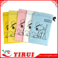 printing small microfiber drawstring bag for glasses and sunglasses