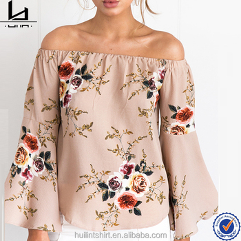 e56f41c596a9f woman tops off-shoulder floral print ladies long sleeves indian blouse  designs