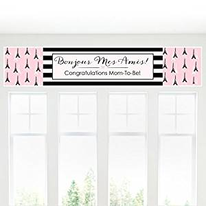 Paris, Ooh La La - Paris Themed Baby Shower Decorations Party Banner
