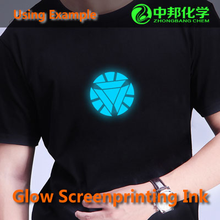 colorful faberic use phosphorescent pigments:glow in the dark T-shirt