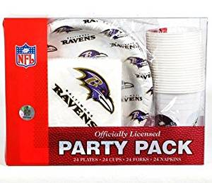 NFL Baltimore Ravens Party Pack
