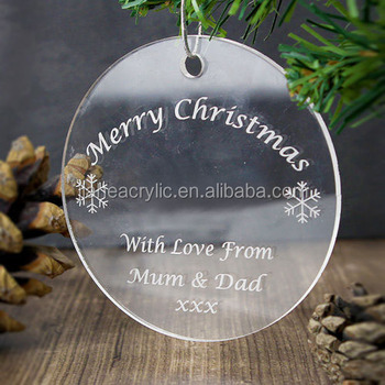 clear plexiglassperspexacrylic glass flat ornaments type personalized christmas tree glass ornament oval