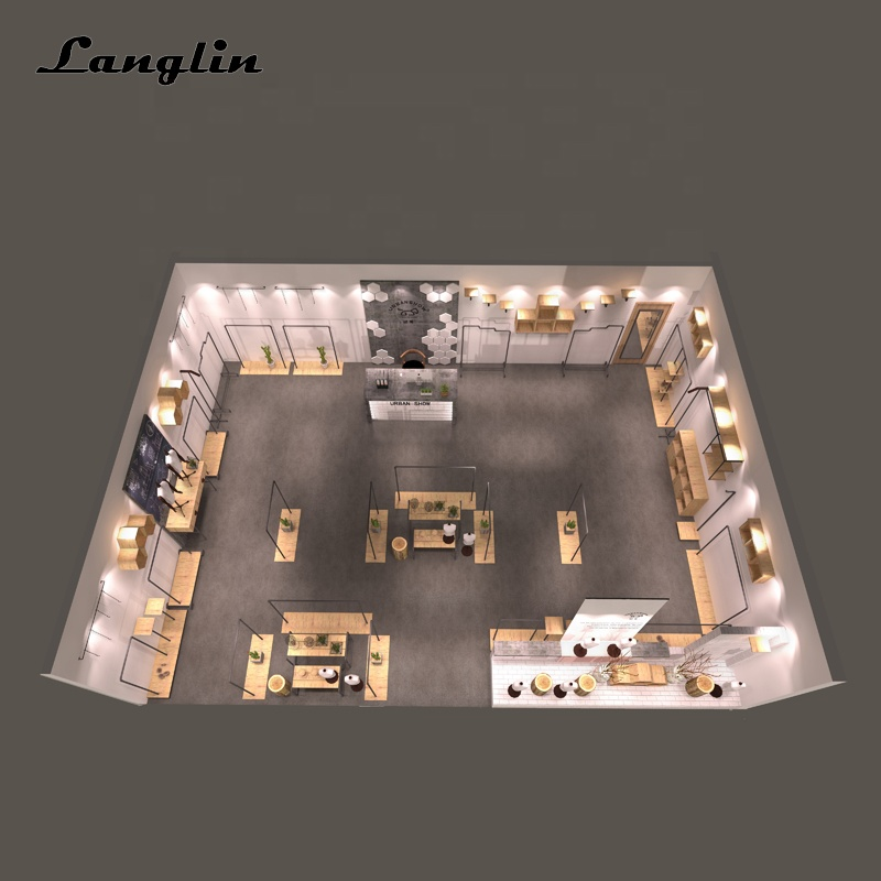 High Quality Menswear Clothing Retail Shop Garment Store Interior Design For Clothes Display