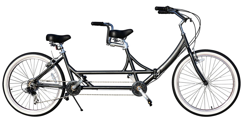 Fito FZ2 7-Speed Folding Foldable Aluminum Alloy 26-Inch Wheel Tandem Bike, Grey