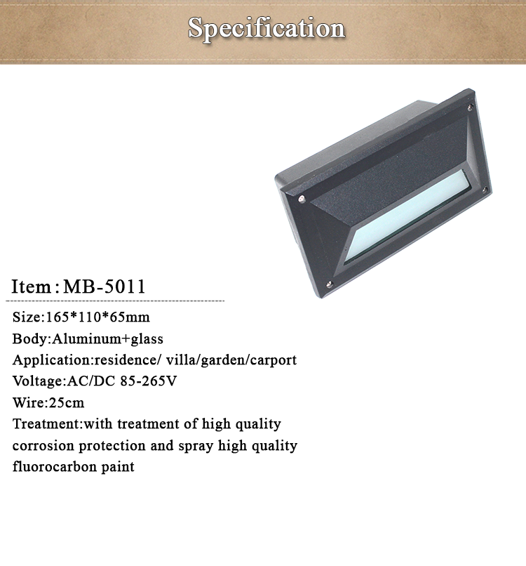 Compound Wall Lights Energy Saving Outdoor Wall Recessed Led Step ...