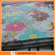 home textile bedding sheet broad width printed flannel fabric supplier from China
