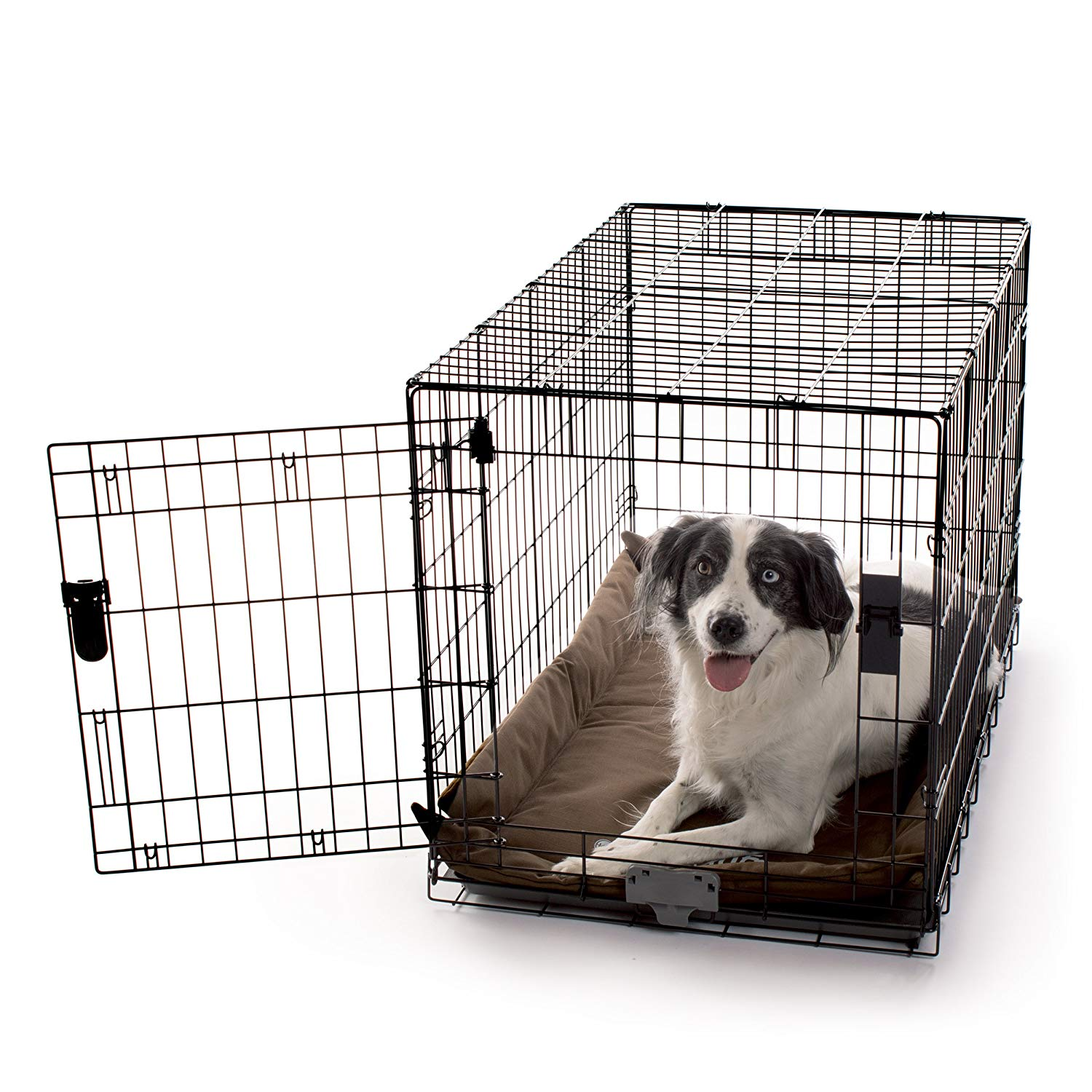 "K&H Pet Products K-9 Ruff n' Tuff Crate Pad Large Chocolate (25"" x 37"") - 1260 Denier Rip-Stop Polyester for Pets That Need Extra Tough Fabric"