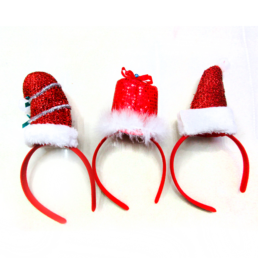 Christmas tree ornaments Christmas party children gifts Santa headband