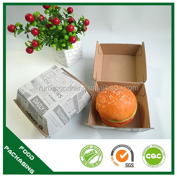 To-go burger container styrofoam burger boxes