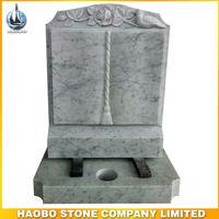 White Marble Book Shape Headstone UK Style