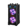 New Product double 15 inch DJ stage speaker with light