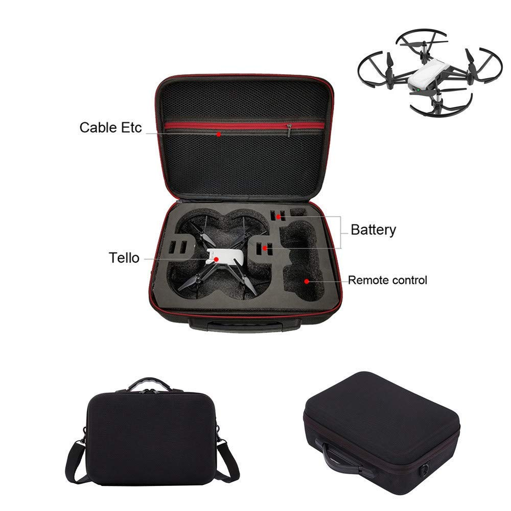 Gbell Shoulder Bag EVA Case Protector Waterproof Storage Bag for DJI TELLO Drone, Gbell Drone Accessories,Ship from Gbell USA Warehouse (Black)