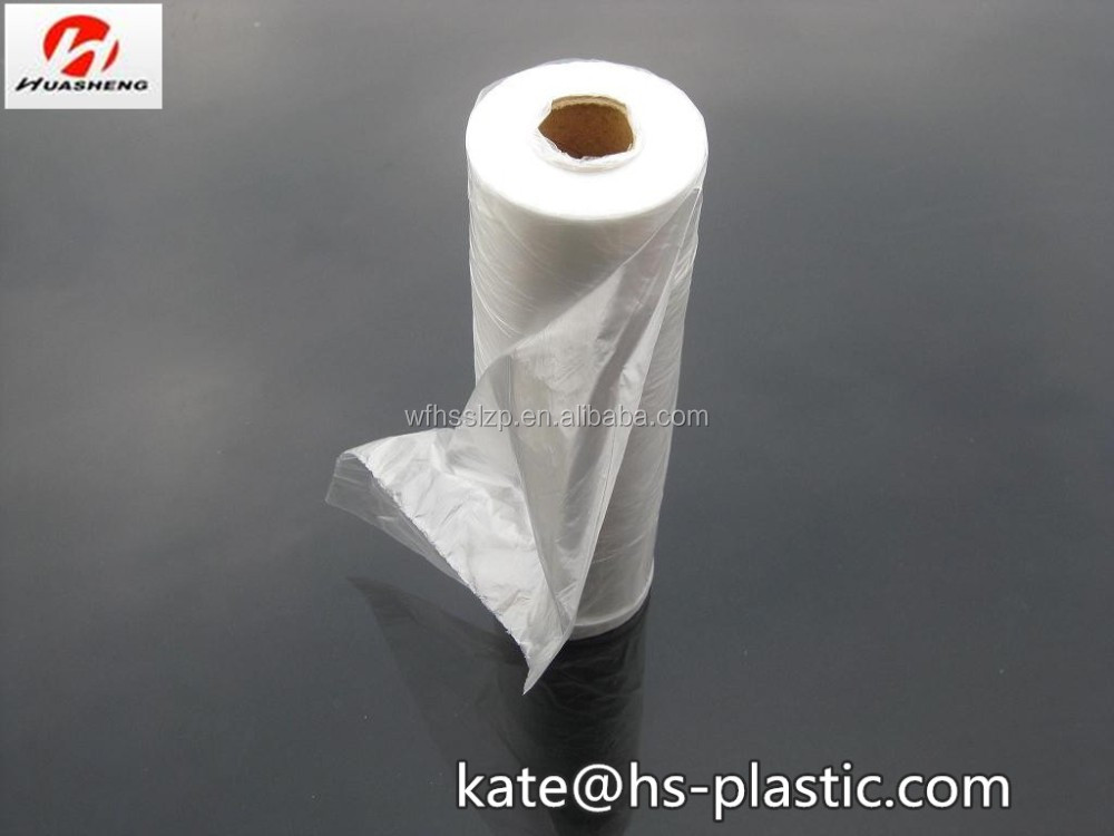 clear plastic bags on roll/ transparent flat bags on roll