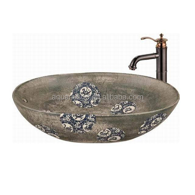 Hand Painted Ceramic Small Bathroom Sink