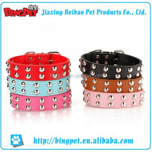 Wholesale low price high quality pet dog studded collars and leashes neck belt