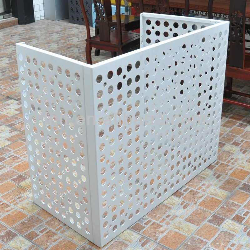 outdoor decorative metal aluminium air conditioner cover