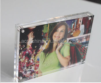 2015 Magnetic Clear Acrylic Photo Frame / Perspex Picture Holder.
