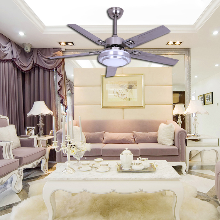 High Quality modern living room decorative lighting national 48'' mini ceiling fan with light