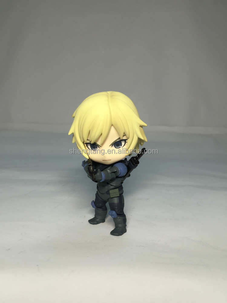 Metal gear cute guy pvc action figure handsome boy character toy