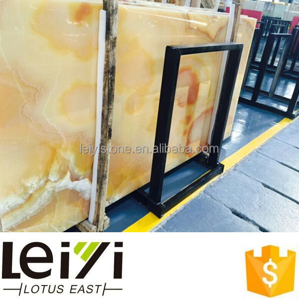 nature marble yellow pineapple onyx composite floor tile