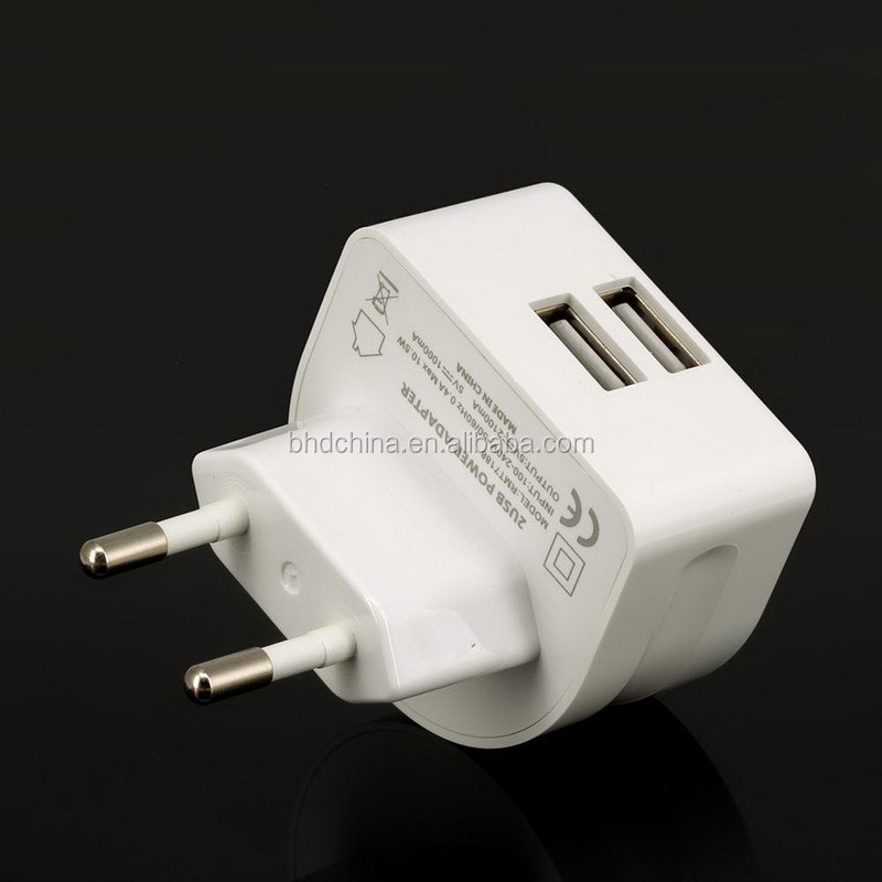 Output Quick 5V 2.1A EU /AU/UK/US dual USB Travel Charger wall plug Power Adapter for mobile phone