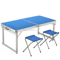 Outdoor aluminum camping table and small chair for picnic with free time HF-19-28