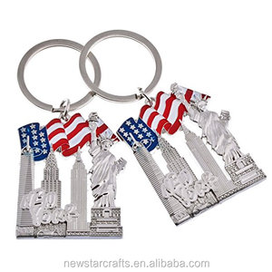 U.S. New York souvenir metal keychain