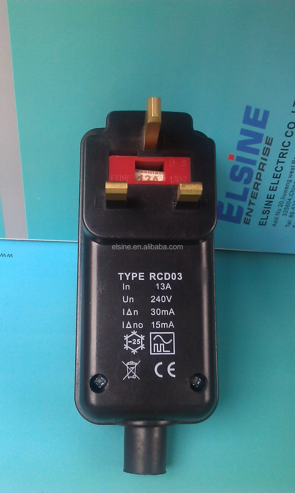 British Residual Current Device Protector Rcd Plug Prcd