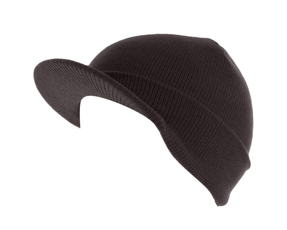 bd95b58ac6e Get Quotations · 9Proud Brown Skull Unisex Visor Beanies Hat Ski Cap Plain