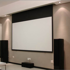 150'' cheap price traditional matte white remote electric projection screen