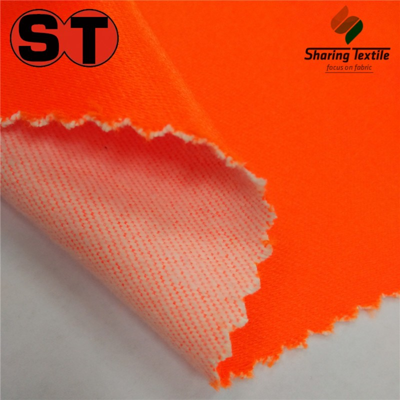 Wholesale Fluorescent Polyester&Cotton Twill Fabric/Polyester And Cotton Fluorescent Workwear Fabric/Tc Hi Visibility Fabric