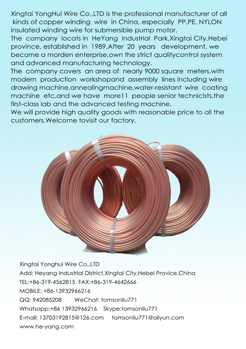 Copper Winding Wire For Submersible Electric Pump Motor,B Type ...