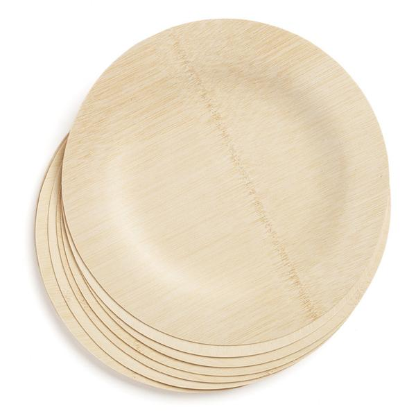 Natural Compostable Custom Bamboo Plates Biodegradable Dishes Plate