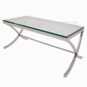 X Base Coffee Table S Shape Stainless Steel Leg Gl