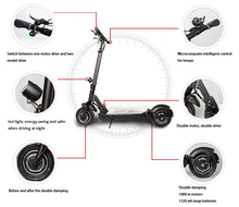 Adult Mobility China CE Approve 2 Wheel Cool Sport 2000W Electric Scooter double suspension at front and rear