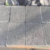 four sides tumbled flamed finish black basalt permeable pavers with gaps