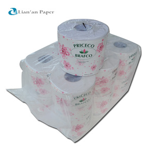 Standard Roll Size Recycled Pulp Toilet Tissues Soft Toilet Paper